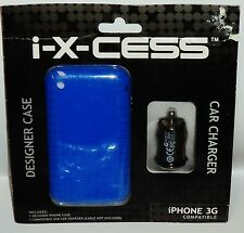 i-X-CESS iPhone Designer Case Compatible USB Car Charger iPhone 3G Compatible BL