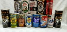 Lot of 13 PULL TOP  BEER CANS Schell SCHMIDT Blue Girl BAVARIAN CLUB Regal B2