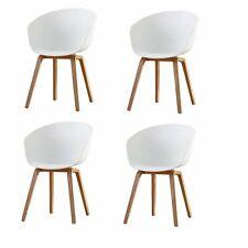 Lot de 4 Chaise Fauteuil Chaise de salle à manger Moderne Cuisine/Bar Blanc