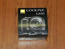 New in Open Box - Nikon COOLPIX L610 16.0 MP Camera - BLACK - 018208263455