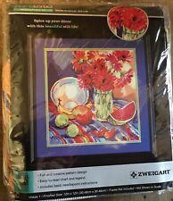 New Needlepoint Kit South American Still Life Flowers Fruit Zweigart Artiste