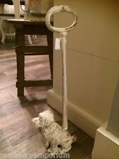 Tall Sitting Dog Doorstop With Handle Home Decor Farm House Kitchen