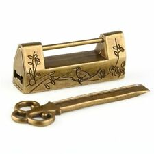 Bird Flower Chinese Carved Padlock Lock And Key Locks Antique Locks