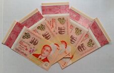 Singapore 2015 SG50 Polymer Commemorative 5 pcs of $10 Notes (1 full set)