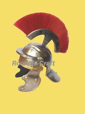 Medieval Roman Centurion Helmet Armor Red Crest Plume Gladiator Costume