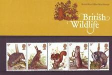 GB 1977 BRITISH WILDLIFE PRESENTATION PACK No 96SG 1039 1043 MINT STAMP SET # 96