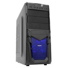 CIT Venom Mesh Gaming Midi ATX PC Case Black Interior 12cm Blue LED Fan mATX