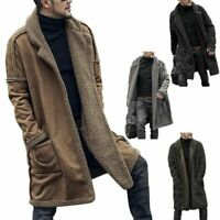 Fluffy Fur Jacket Warm Coat Winter Outwear Men Long Thicken Parka Overcoat Tops