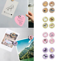 4pcs Cartoon Dog Fridge Magnets 30mm Round Glass For School Office Home Decor