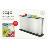 Joseph Joseph Chopping Board Set with Index Style Tabs & Stainless Steel Case