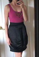 NEW $178 MAX & CLEO BCBG 12 L Pink Black Embellished Dress Designer Cocktail