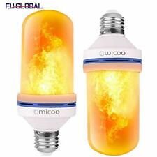 Omicoo Led Flame Effect Light Bulb(2 Pack), 4 Modes Flame Light Bulbs with
