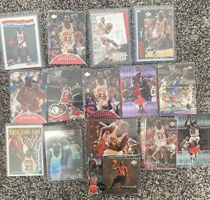 Lot of(15)Michael Jordan upper deck holo fleer topps nba hoops inserts #549