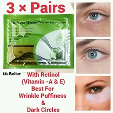 3×pcs With Retinol Vitamin-A & E Crystal Collagen Eye Lifting Anti-Wrinkle Mask