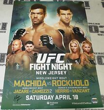 Lyoto Machida Luke Rockhold 22x Signed UFC on Fox 15 Poster SBC Paige VanZant +