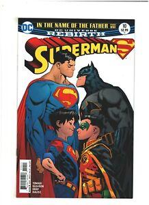 Superman #10 NM- 9.2 DC Comics Rebirth 2017 Batman, 1st Super Sons