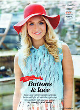 """~ Knitting Pattern For Lady's Pretty Lacy Sleeveless Top ~ 32"""" ~ 46"""" Bust"""
