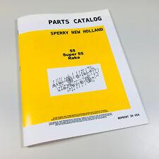 SPERRY NEW HOLLAND 55 SUPER 55 RAKE PARTS MANUAL CATALOG