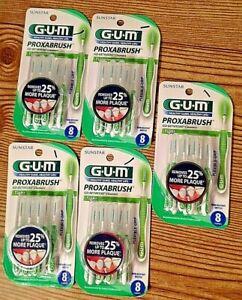 5 packs Sunstar GUM Proxabrush Go Betweens teeth Cleaners TIGHT 8 Each 40 total