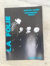 The STRANGLERS French Fanzine La Folie Rare. Plus Burnel Promo Picture Bonus