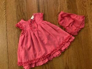 SAVANNAH Girls 3-6M Pink Cotton Polyester Polka Dot Dress Set