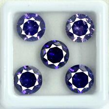 20 Ct Natural Round Cut AGSL Certified 5 Pcs Purple Sapphire Loose Gemstone Lot