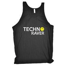 Funny Novelty Vest Singlet Top - Techno Raver Rave Music