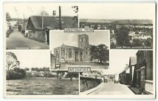 Somerset; Wedmore Multiview RP PPC, 1956 PMK, Chhurch St, Glanville St, Church..
