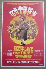 RZA Live from the 36th Chamber 2018 - Denver Concert Flyer /Gig Poster Wu Tang