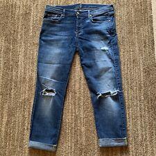 $219 7 For All Mankind  7FAM Josefina Skinny Boyfriend Jeans Blue Size 33 (31)