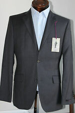 40L TED BAKER SIMPLY STERLING GREY WITH PURPLE PINSTRIPE SUIT JACKET RRP £250
