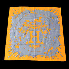 HERMES Carre Peinture Fraiche Scarf Silk Orange Authentic NR14984