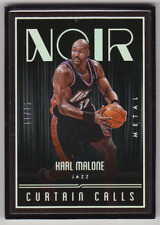 2016-17 Panini Noir Utah Jazz Karl Malone Curtain Calls qMetal 06/25