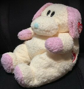 "BabyTy/ ""Dogbaby""  /rattles/ 1999 /Yellow Pink/Plush Toy"