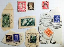 Lotto 10 francobolli Regno d'Italia Fascismo WWII usati