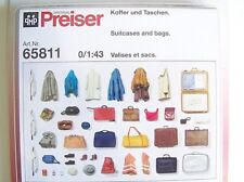 NEW Preiser O 1:43 (lionel scale) 65811 UNPAINTED LUGGAGE and BAGS KIT