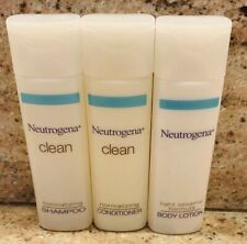 NEW 63 Piece Neutrogena Clean Travel Size Shampoo Conditioner Body Lotion