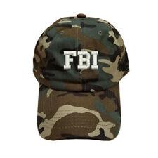 COTTON GREEN CAMO CAMOUFLAGE FBI Federal Bureau of Investigation CAP HAT
