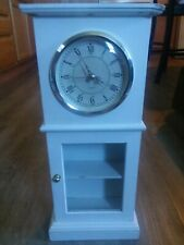 "17"" Mini Clock with Small Glass Shelves - Clock works"
