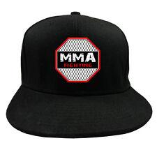"FIST FULL® Base Cap ""MMA FIGHTING"" schwarz Mixed Martial Arts Kampfsportler BJJ"