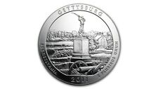 America the Beautiful ATB Gettysburg Military Park  5 oz Silber USA 2011