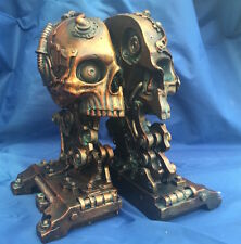 Steampunk Cranial Bookends Book Storage Nemesis Now New Boxed Ornament Skull