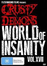 Crusty Demons - World Of Insanity : Volume 17 (DVD, 2013) BRAND NEW SEALED