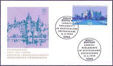 BRD 1999: Schweriner Schloß! FDC Nr. 2037 mit Berliner Sonderstempeln! 1A! 1806