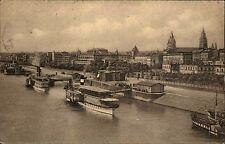 Mainz Rheinland-Pfalz 1925 Panorama Blick über Stadt Rhein Schiffe Kirchen Fluß