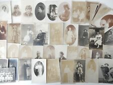 JOB LOT 45 PEOPLE POSTCARDS/PHOTOS EARLY (20TH SOME FADING/OTHER WEAR BCB1