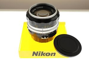 Nikon Nikkor-S 50mm f/1.4 Pre-Ai fast standard lens. EXC++ condition. Classic!