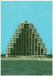 Vintage Postcard The Pyramid Condominium Architectural Building Ocean City MD