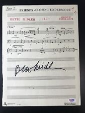 Bette Midler Signed Sheet Music Friends Autograph PSA/DNA