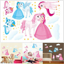 Decorative Unicorn Princess Wall stickers For Kids Room PVC/New Mural Wall Decal